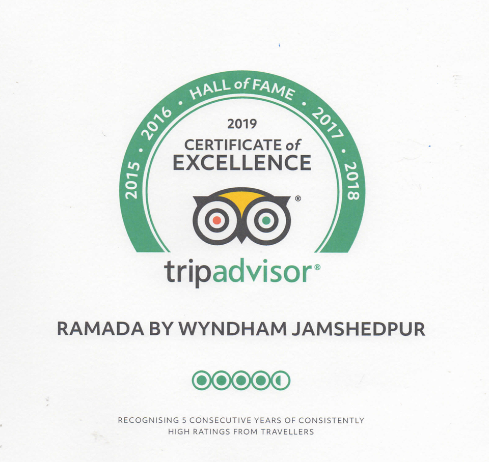 TripAdvisor-Certificate-of-Excellence-Hall-of-Fame-Ramada-Jamshedpur